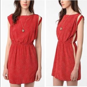 UO 6x6 By No.6 Polka Dot 100% Silk Red Dress